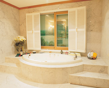 Material de imagen de calidad ambiental de baños