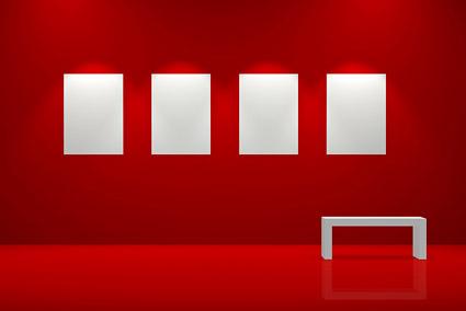 Rotes Bildqualität der Ausstellungsmaterial