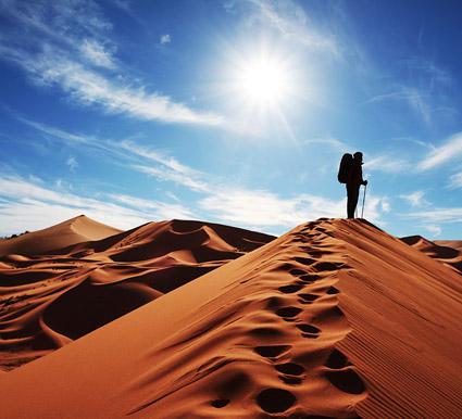 Le désert de marche.
