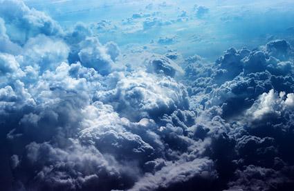 Плотное облако картина материал
