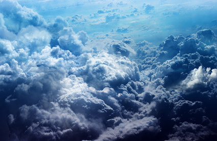 Material de imagen densa nube