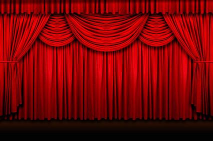 赤いカーテン画像品質の素材