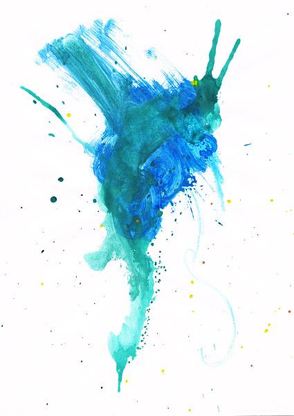 स्याही पानी के रंग का चित्र सामग्री-से पहले 041