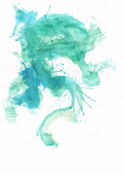 インク水彩画の画像素材-040 前に