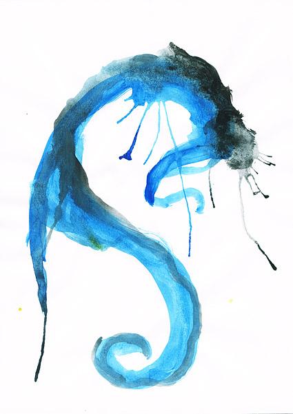インク水彩画の画像素材-039 前に