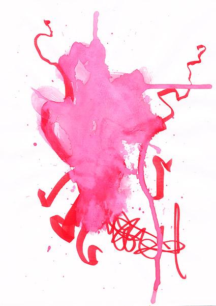 インク水彩画の画像素材-033 前に