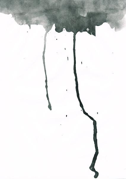 インク水彩画の画像素材-029 前に