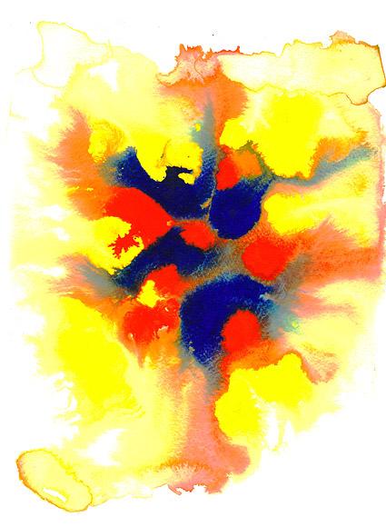 インク水彩画の画像素材-025 前に