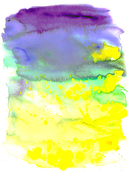 インク水彩画の画像素材-023 前に