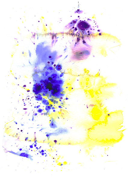 インク水彩画の画像素材-022 前に