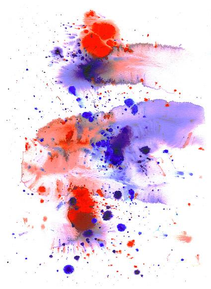 インク水彩画の画像素材-021 前に