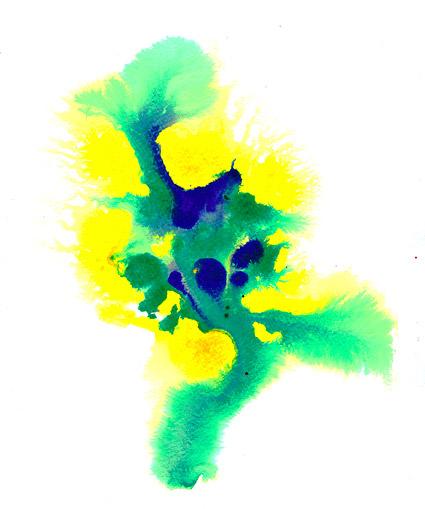Antes de la acuarela de tinta imagen material-019