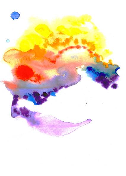 Antes de la acuarela de tinta imagen material-017
