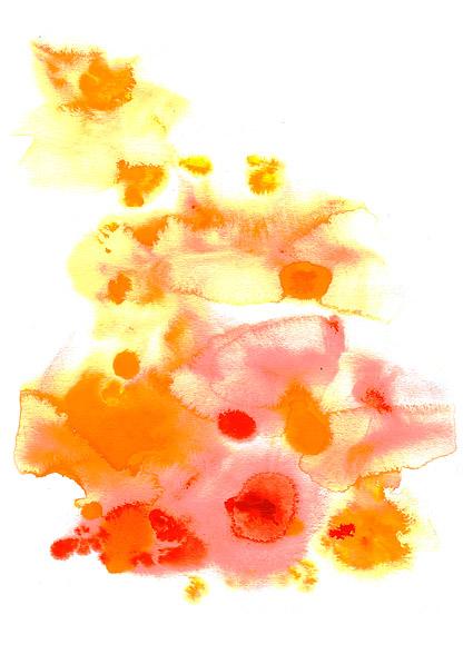 Bevor die Tinte Aquarell Bild Material-014