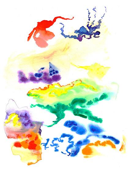 インク水彩画の画像素材-012 の前に