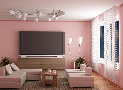 แฟชั่นสีชมพูห้องภาพวัสดุ
