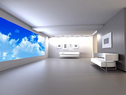 純粋な白いインテリア写真素材