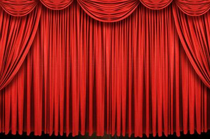 Material de imagem requintado cortina vermelho