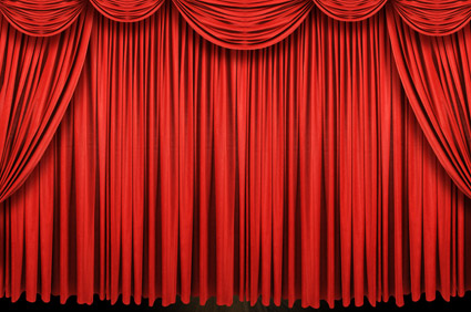 Material de imagen exquisita cortina roja