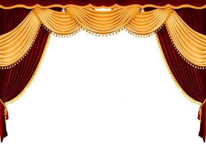 Material de imagem continental cortina