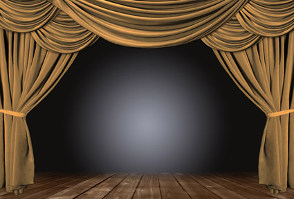 Material de imagen de cortina marrón