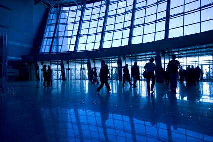 Material de imagen de aeropuerto hall