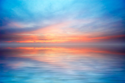 El mar al atardecer foto material-7