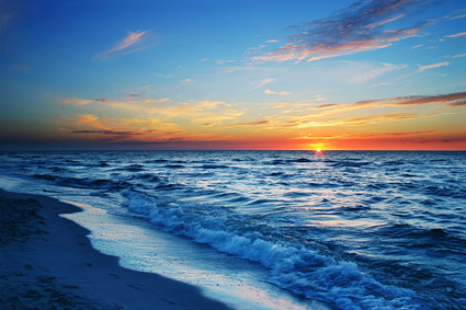 ทะเลที่ dusk ภาพวัสดุ-8