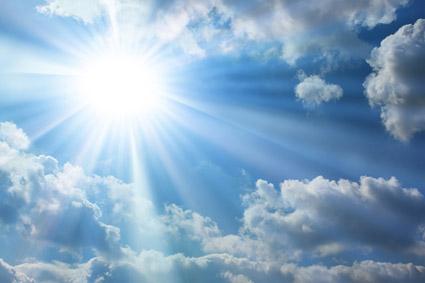 太陽電池材料の空中写真