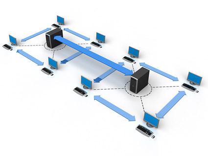 3 D コンピュータ ネットワーク接続画像素材-3
