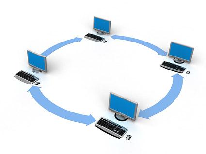 เครือข่ายคอมพิวเตอร์ 3 มิติที่เชื่อมต่อภาพวัสดุ-5
