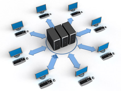 3D 컴퓨터 네트워크 연결 그림 자료-8
