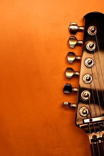 Material de imagem de destaque de guitarra