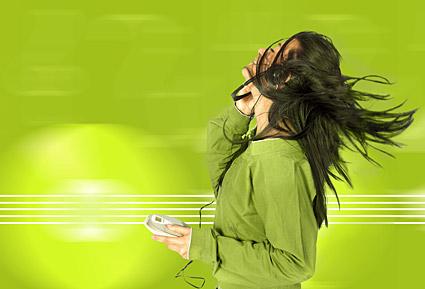 Слушайте музыку женщина картина материала-2
