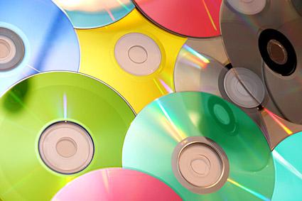 Imagen en color de los materiales de CD