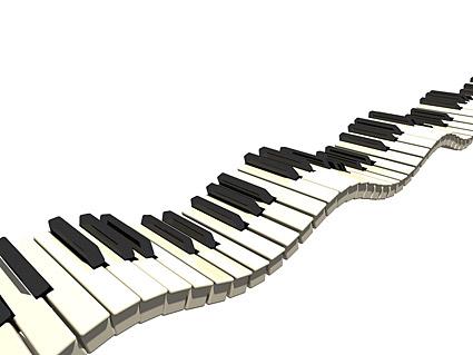 Flutuações no material de imagem de teclado