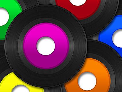 カラー画像ディスク ビニール素材