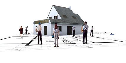 3D-здания и план этажа -4