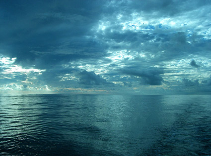 ทะเลบนวัสดุรูปภาพท้องฟ้า