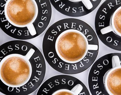 画像品質のコーヒーの背景素材を見下ろす