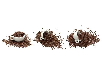 コーヒー豆素材-2 画像します。