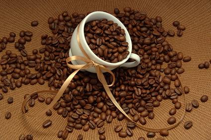 材料の画像品質のコーヒー豆