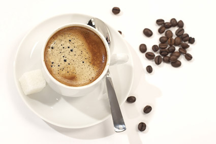 Café y granos de café de calidad material de imagen