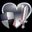 หัวใจชุดรูปแบบวัสดุโปร่งใส png