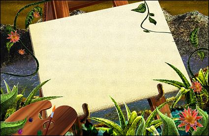 녹색 등나무 식물 스케치