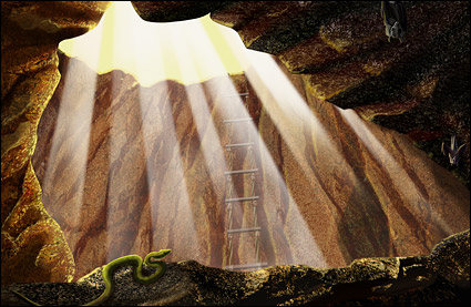La lumière et la caverne