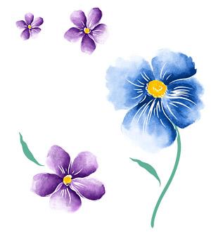 ทาสีมือดอกไม้ชั้นวัสดุ psd-1