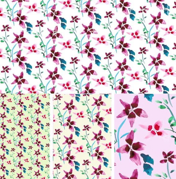 韓国ファッションの豪華なパターンのシリーズの psd の素材 10 層