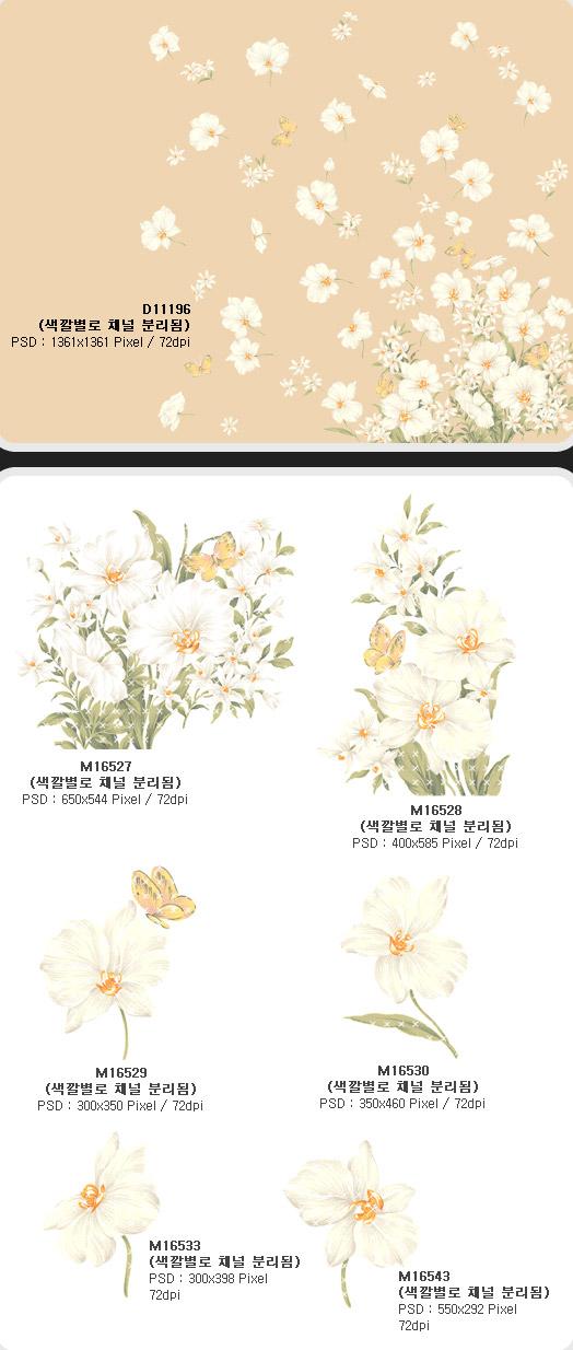 ファッションの蝶、蘭の花の層状 psd の素材