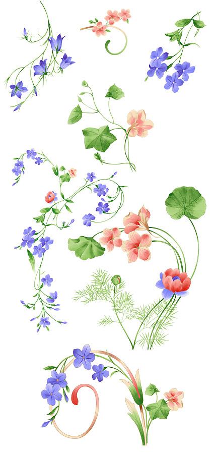 ОСЧС моды ручная роспись цветочные узоры слоистых материалов-2